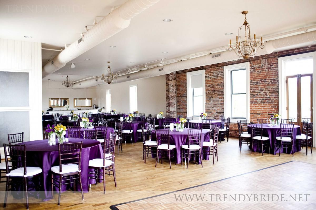 Purple And Yellow Wedding Decor Purple Table Cloths