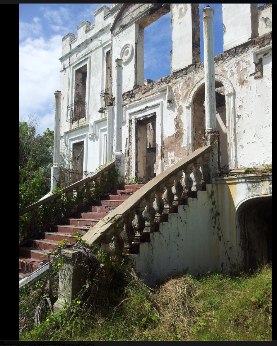The Abandoned Sam Lords Castle In Barbados, BWI. Photo By