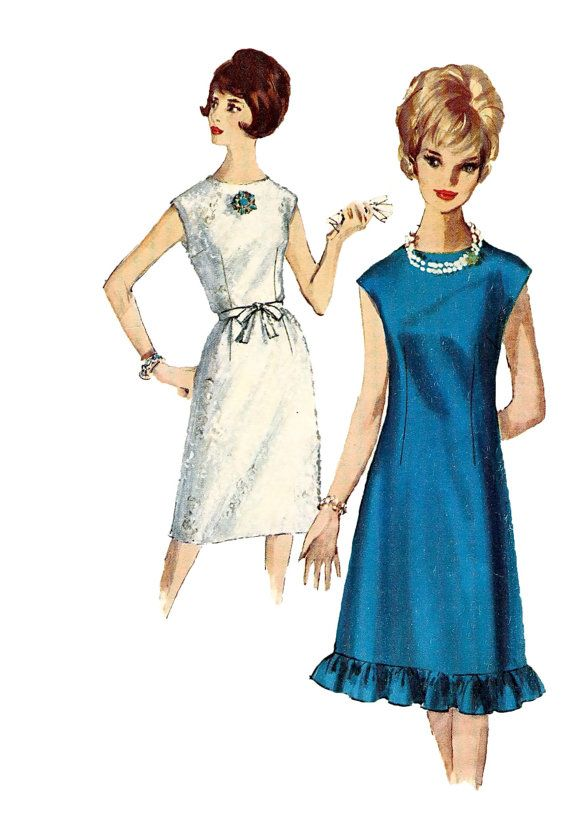 Image result for mod dress with ruffle hem