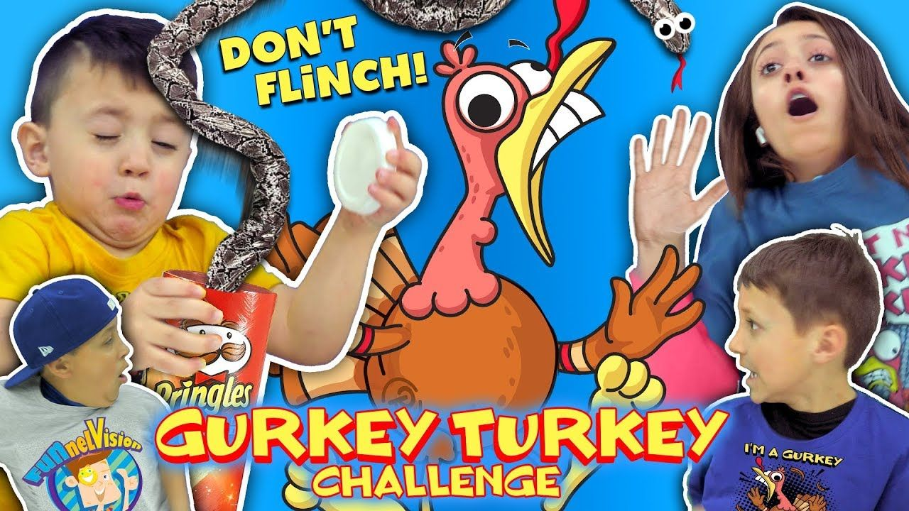 Gurkey Turkey Challenge Try Not To Flinch Funnel Family Compilation Youtube Challenges Family Laugh