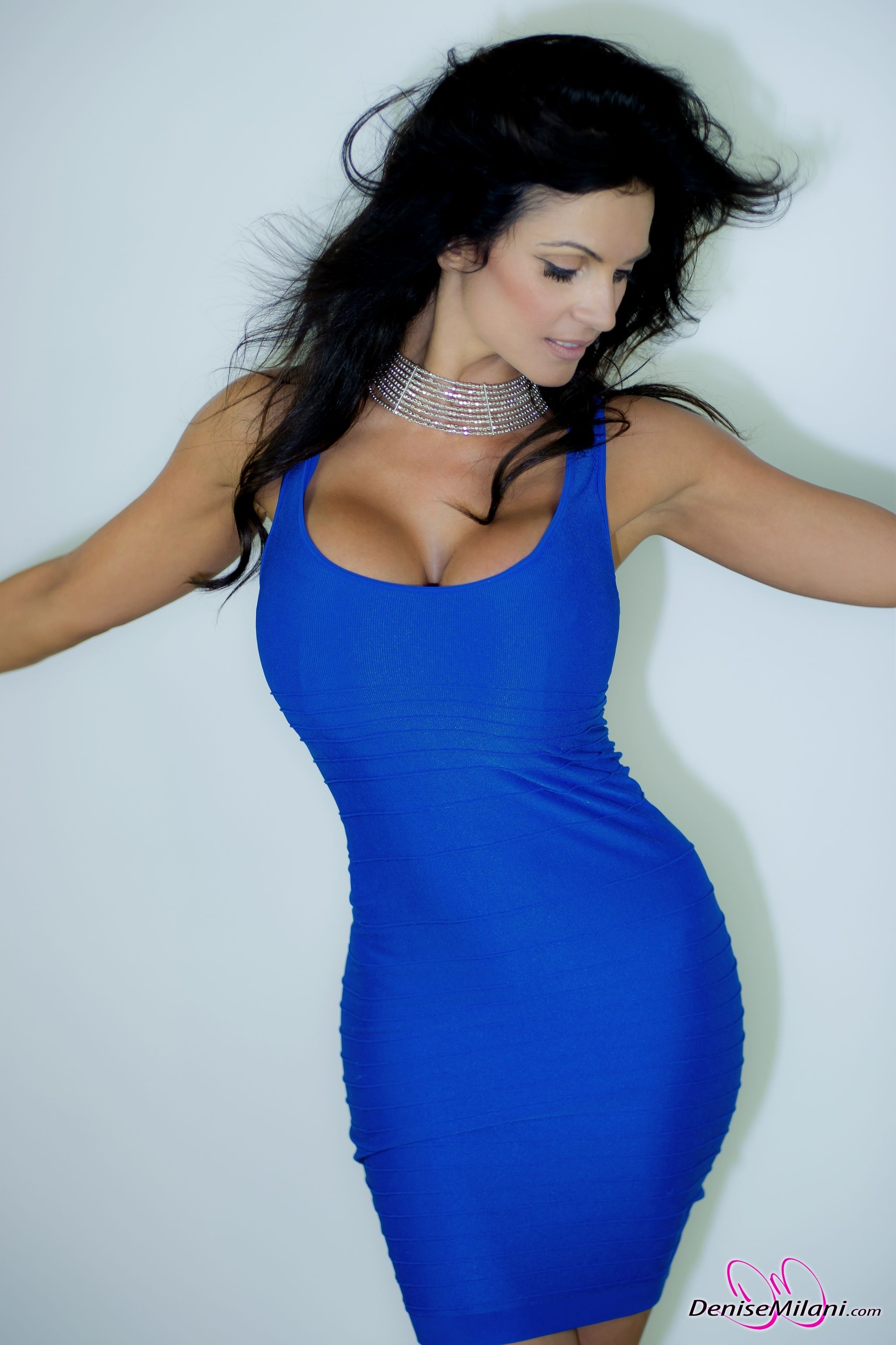 Denise Milani Blue Dress