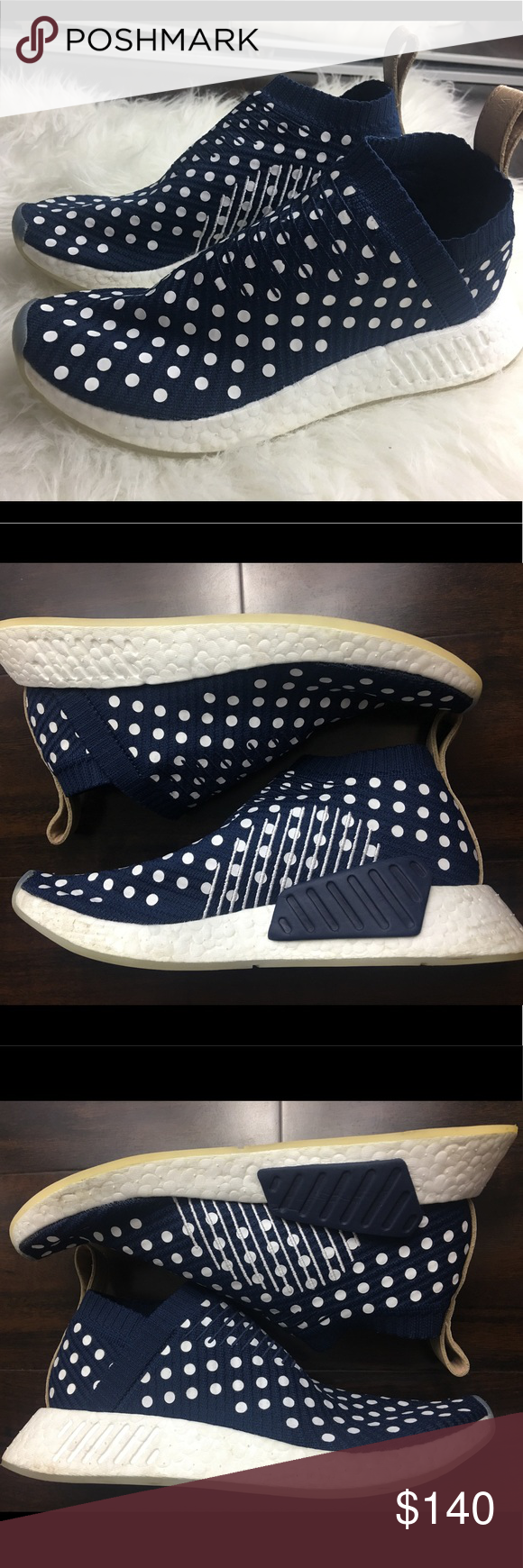 2b2ee831b Adidas NMD CS1 city sock Blue polka dot Women US 8 purchased directly from  adidas.com. These are women s and they run true to size. Worn probably 4-5  times