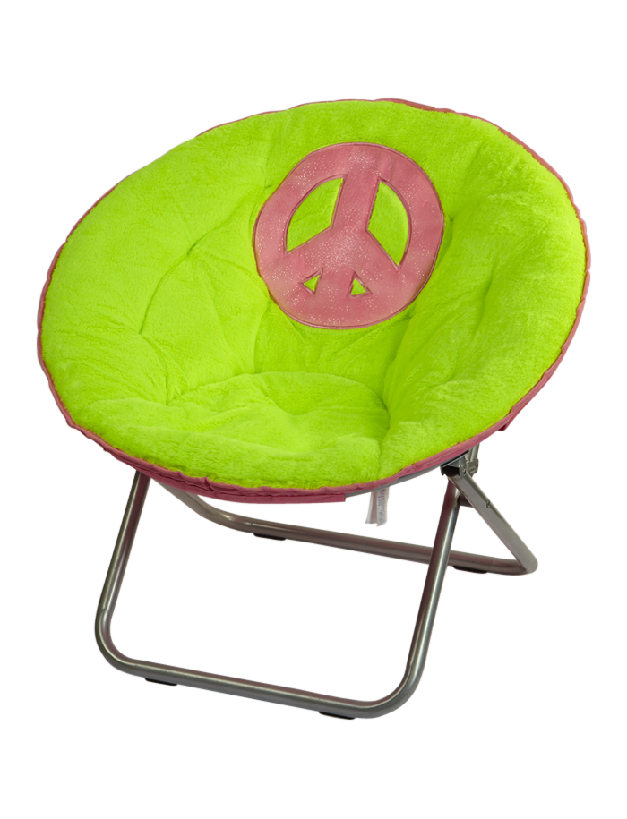Peace Sign Bedroom Accessories: Peace Sign Saucer Chair