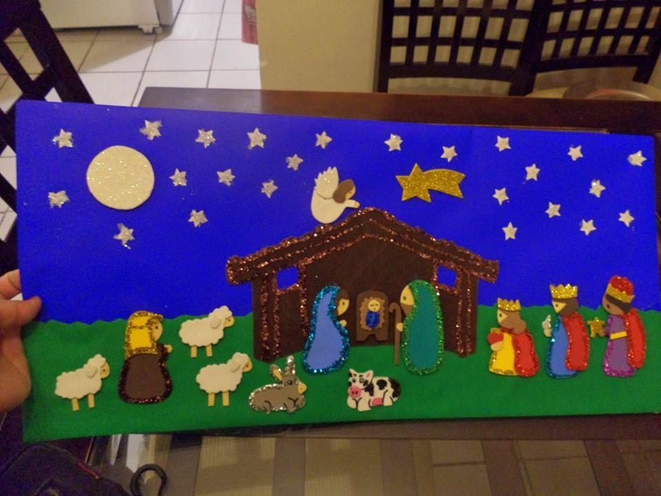 Peri dico mural de diciembre peri dicos murales - Murales decorativos de navidad ...