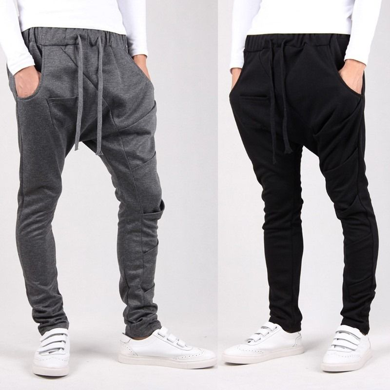 8 Colors 2015 Unique Pocket Mens Joggers Cargo Men Pants ...