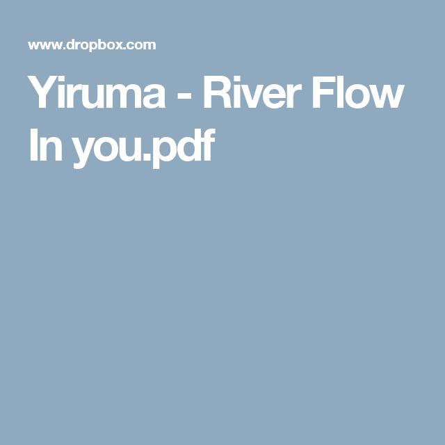 Yiruma - River Flow In you.pdf