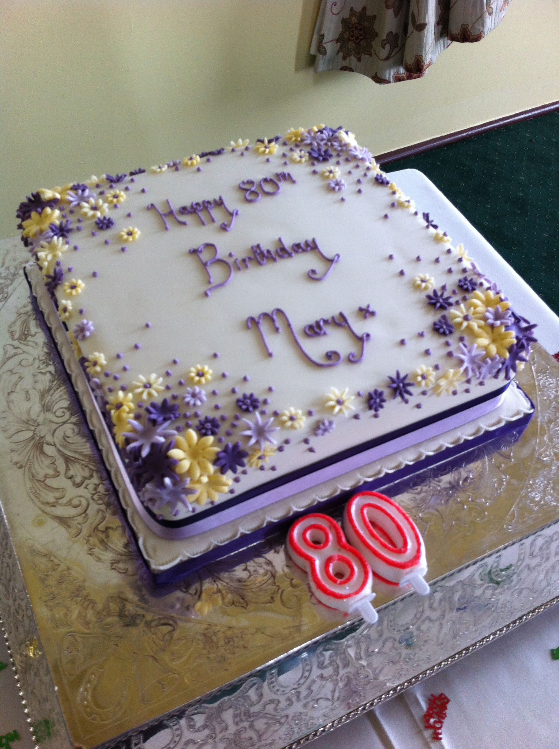 80th Birthday Cake Gaye Mcnair Krebs Horney Food Fest
