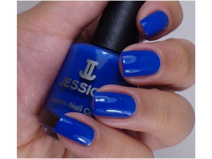 Vibrant blue nail lacquer Longing * Jessica | Enails.eu online store ...