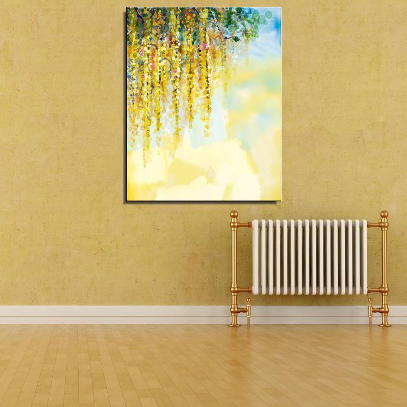 Frameless Canvas Art Oil Painting Flower Painting Design: FLOWER Flower Abstract Oil Painting Drawing Frameless Home