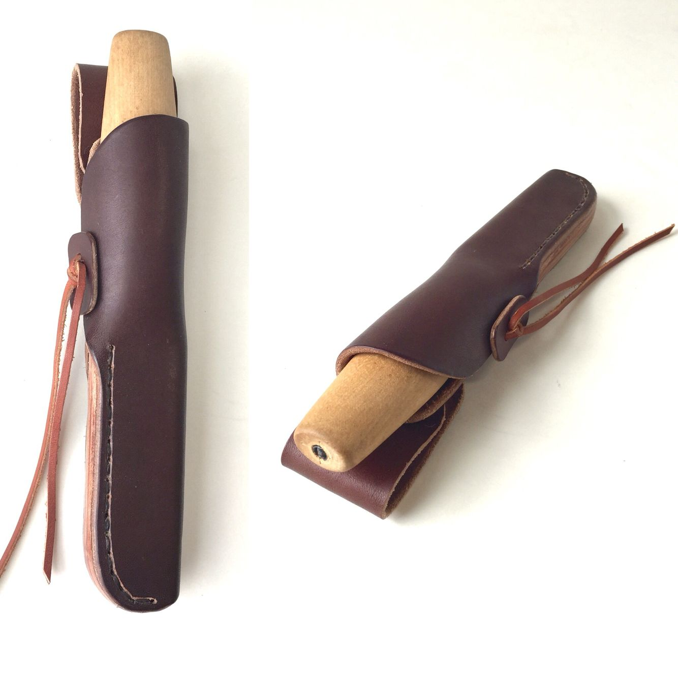Custom Leather Knife Sheath For Morakniv Erik Frost 106 Wood