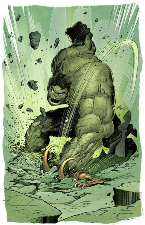 #Hulk #Fan #Art. (Puny God! says Hulk) By: Raultrevino. (THE * 5 * STÅR * ÅWARD * OF: * AW YEAH, IT'S MAJOR ÅWESOMENESS!!!™) ÅÅÅ+
