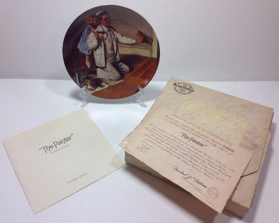 Norman Rockwell The Painter Rockwell Heritage Collection Plate 14,826 H Bradex