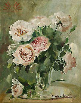 Vaso com rosas - 1950 Georgina de Albuquerque