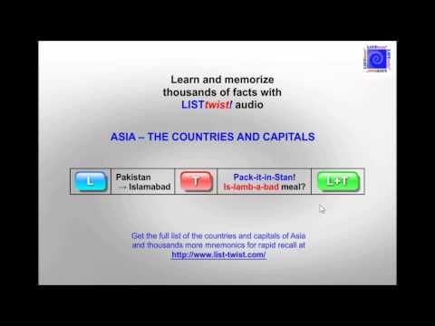 Memorize the countries and capitals of Asia in minutes  YouTube