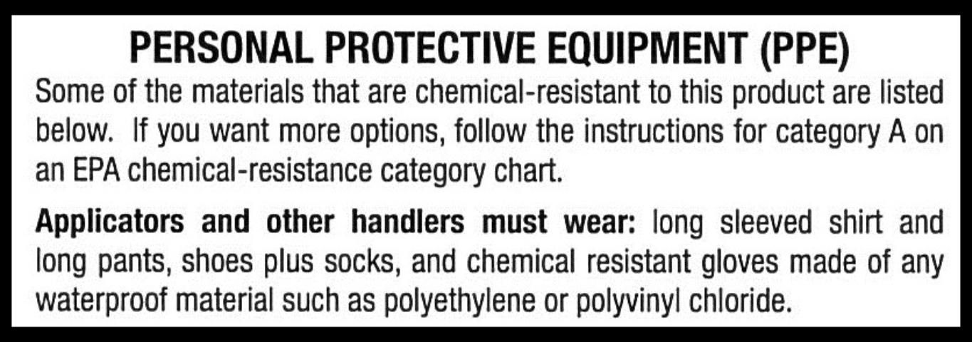 Personal protective equipment for handling pesticides figure ppe label statements based on also rh pinterest