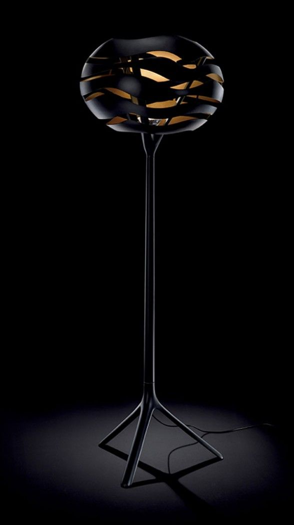 Torchiere Floor Lamp With Unusual Shade By Dab Tree