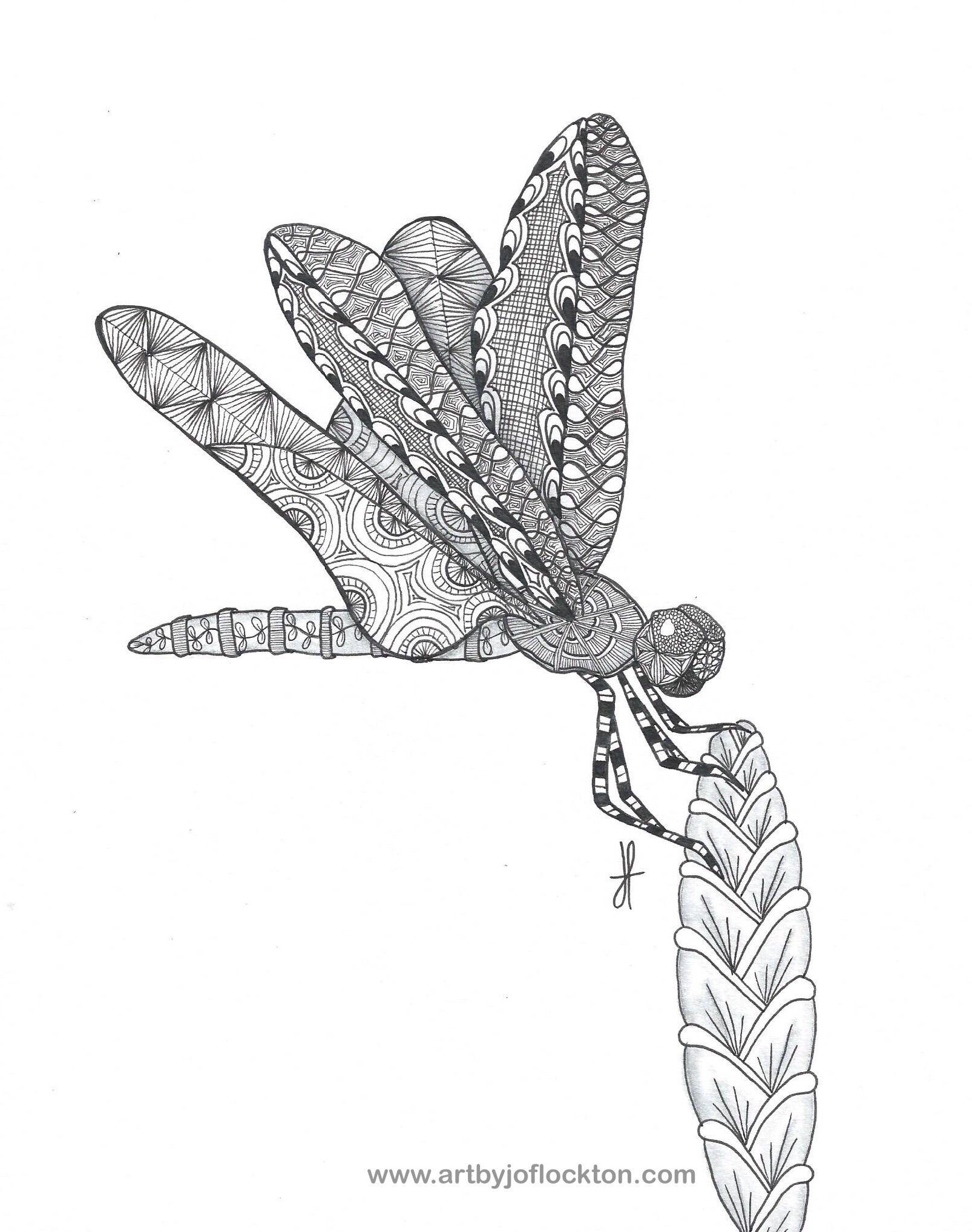 Just Resting Dragonfly Original Art 44