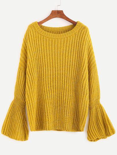 Jersey con manga acampanada - amarillo  34f613ad8cd27