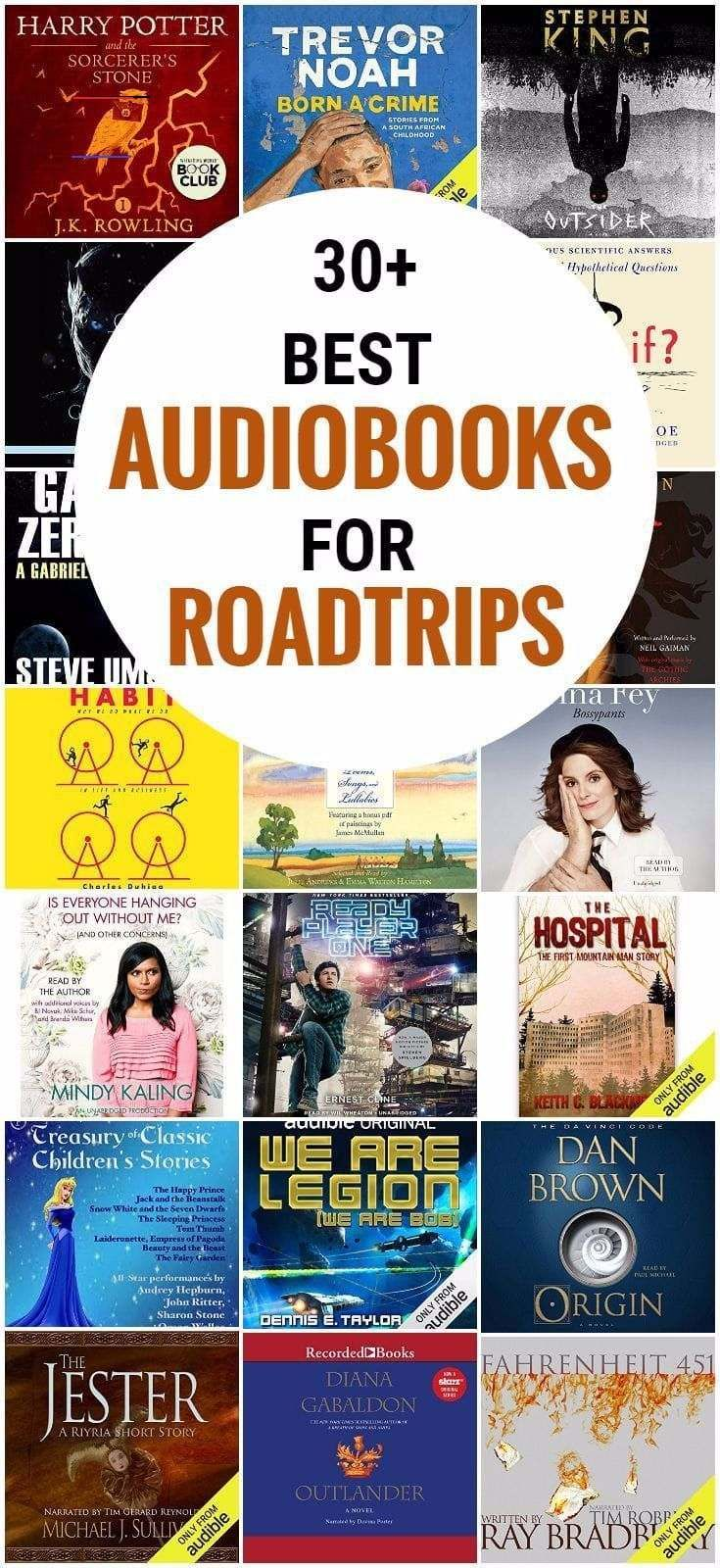 Looking for the best audiobooks for road trips? We share the very best great selection of free, adult, kids, romance, funny, fiction, mystery, thriller and fantasy, and more on Audible, plus books for little kids, teens and tweens. #travel #traveltips #books #roadtrip #vacation #readinglists<br>