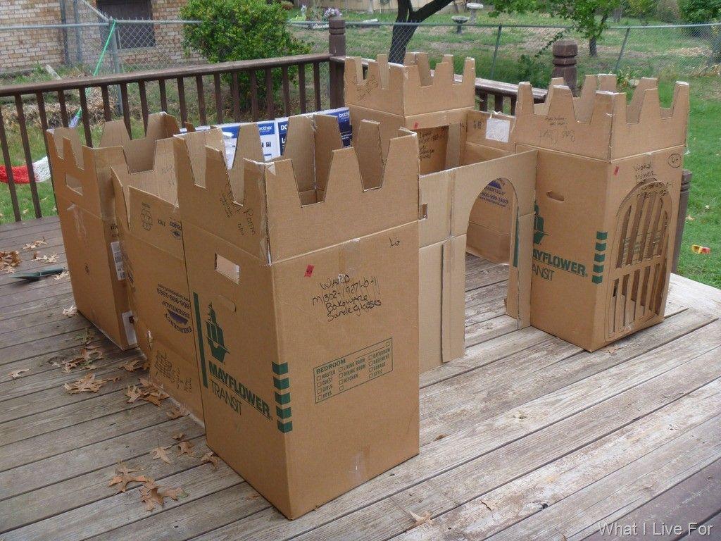 image result for cardboard box fort toys cardboard castle diy