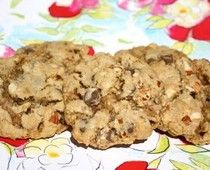 """Pretzel Toffee-Chip Cookies. My mom made these tonight and OMG the salty sweetness of this cookie is mouth-watering! She found the recipe in her First For Women magazine but it can also be found if you click on this picture to follow through to link or also cooks.com or simply """"Google"""" Shara's Pretzel Toffee-Chip Cookies :)"""