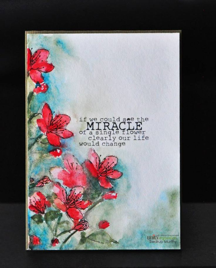 Single Flower Miracle Watercolor Cards Unity Stamps Flower Cards