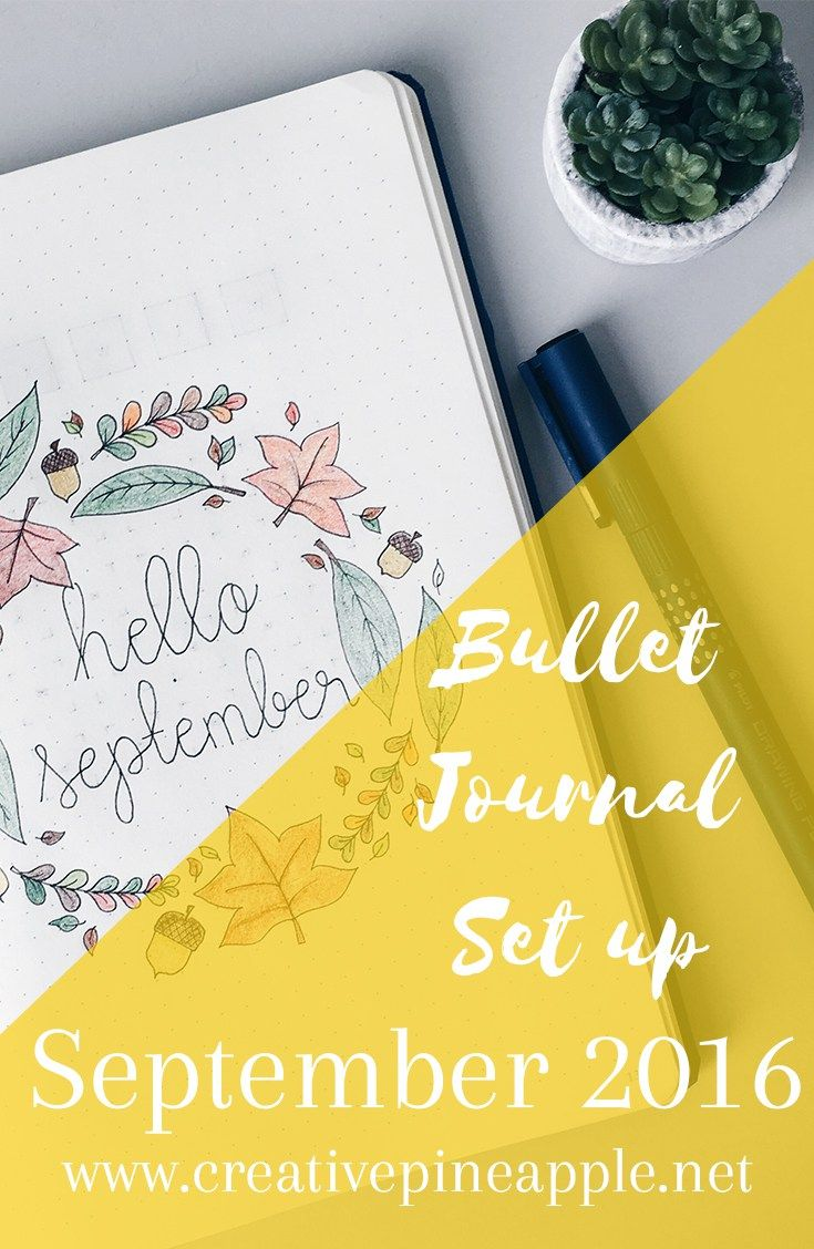 Bullet Journal Setup: September 2016