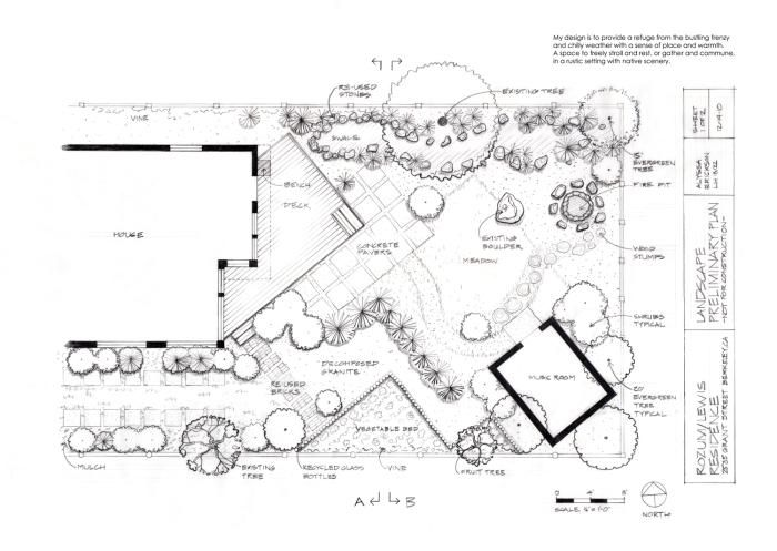 Landscape Design Hand Drafting by Alyssa Erickson at