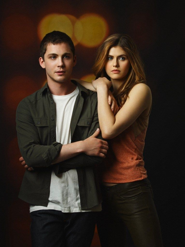 Former boyfriend and girlfriend couple: Logan Lerman and Alexandra Daddario