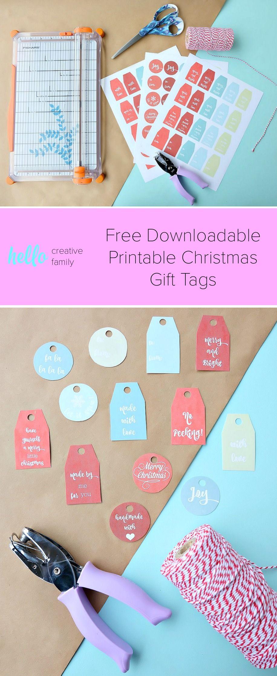 free handlettered printable christmas gift tags christmas ideas