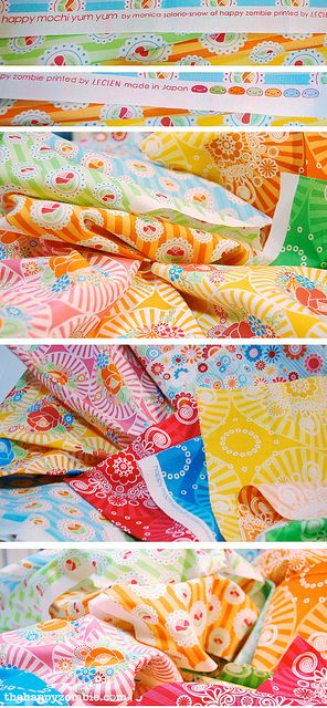 I have been hoarding my stash of this fabric collection since it was released.  Today, I started cutting it for my *first* quilt. :) #happymochiyumyum