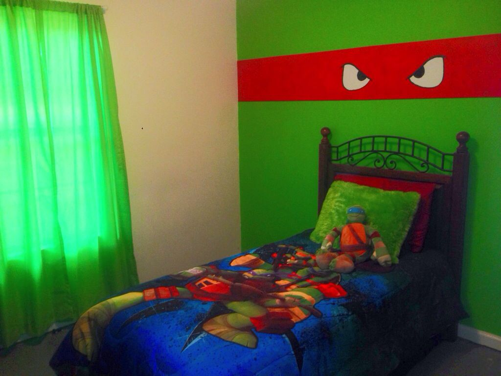 Amazing Aidens New Ninja Turtle Room!! Came Out Too Stinkin Cute!!
