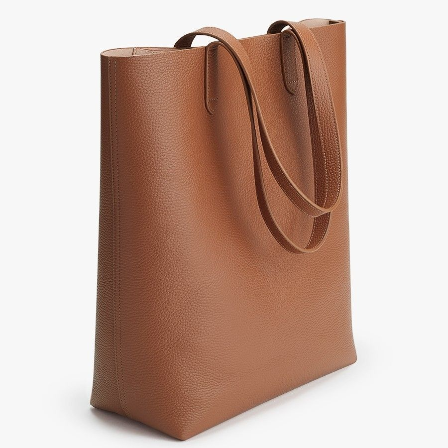 c86ff9e36102 Tall Structured Leather Tote in 2019