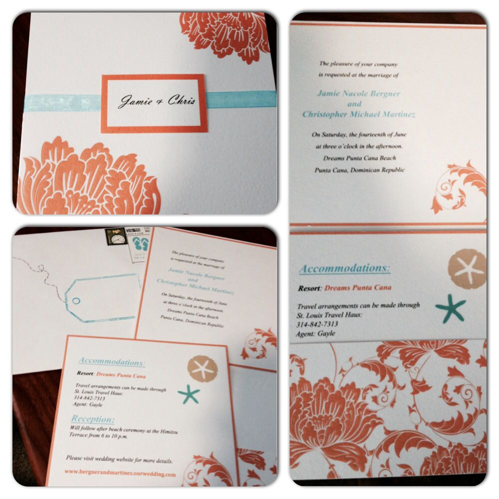 Wedding Invitations Purchased From Michaels Printed Myself Added