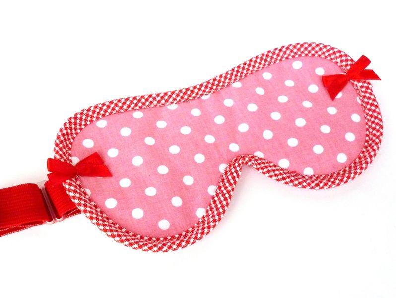 """Schlafbrille """"Dotti"""" rosa weiß gepunktet von Goldschnittchen auf DaWanda.com"""