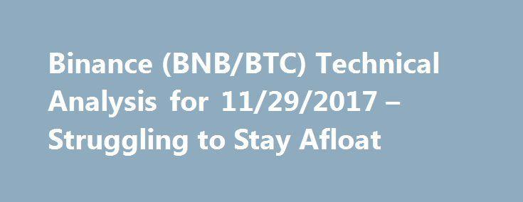 Binance (BNB\/BTC) Technical Analysis for 11\/29\/2017 u2013 Struggling - technical analysis