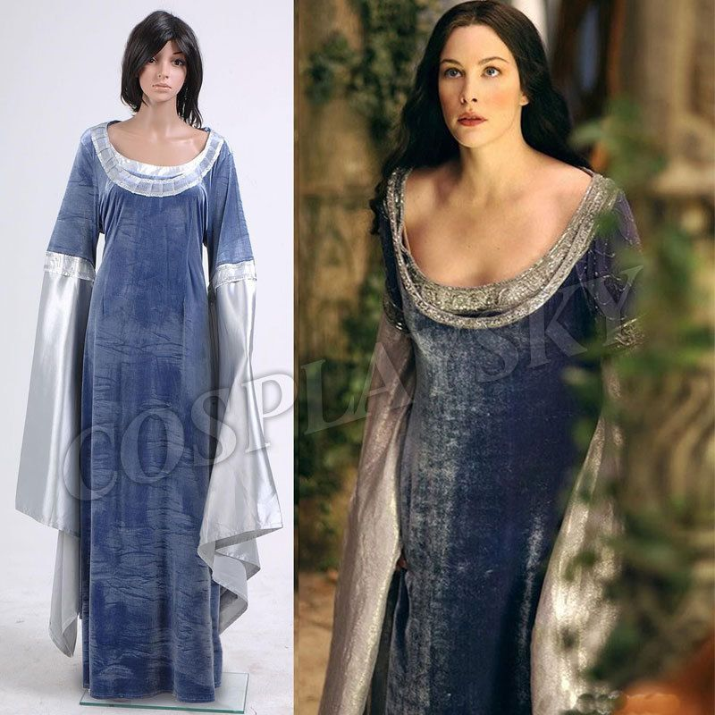 b9ed5ea5a4fd8 The Lord Of The Rings Arwen Traveling Dress Costume(China (Mainland ...