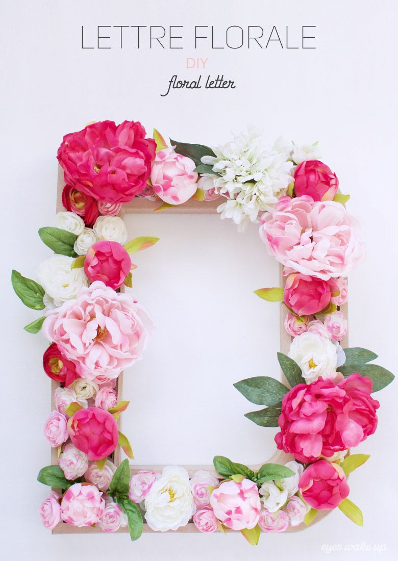 diy lettre fleurie id e d co mariage floral letter eyeswakeup on my blog pinterest. Black Bedroom Furniture Sets. Home Design Ideas