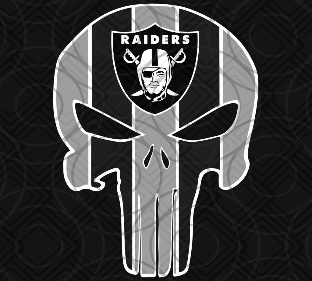 Oakland Raiders, Oakland Raiders svg, Punisher Raiders svg