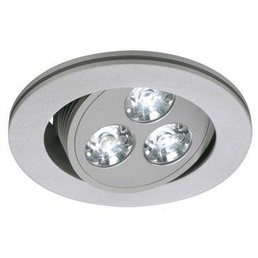 Triton Led Downlight 3x1w Silbergrau Led Weiss Led24 Led Shop Lampen Und Leuchten Einbauleuchten Wandeinbauleuchten