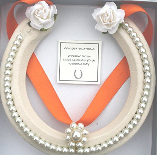 Lucky Real HorseShoe Bridal Wedding Gift Guardian Angle