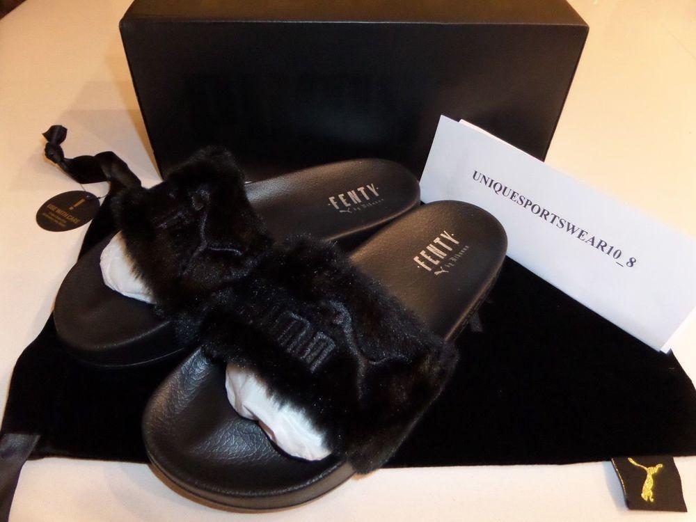 725a2fd1843 GENUINE Puma Leadcat Fenty Rihanna Fur Slides 362266-03 Women s UK 6 ...