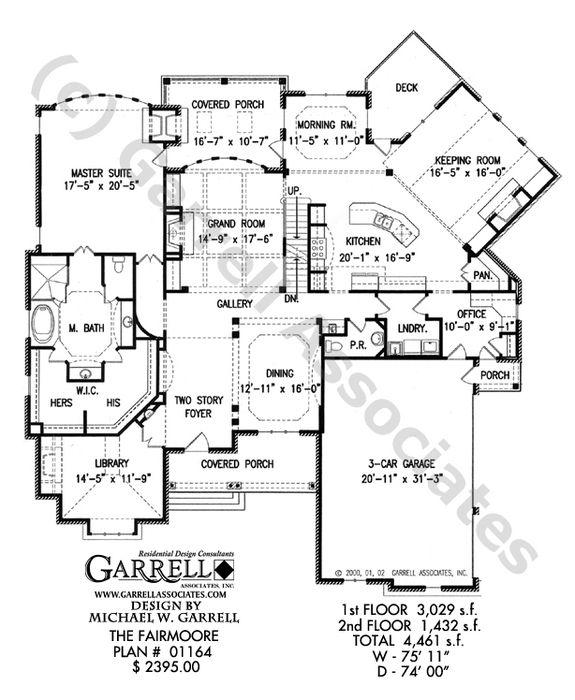 Fairmoore House Plan 01164, 1st Floor Plan, Craftsman Style House
