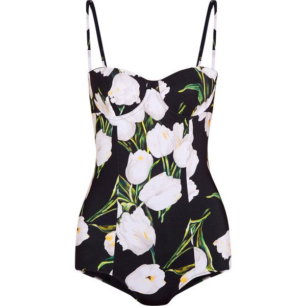 Dolce & Gabbana Printed swimsuit (1.155 BRL) ❤ liked on Polyvore featuring swimwear, one-piece swimsuits, swimsuit, black, print one piece swimsuit, polyester swimsuits, swim suits and colorful swimsuits