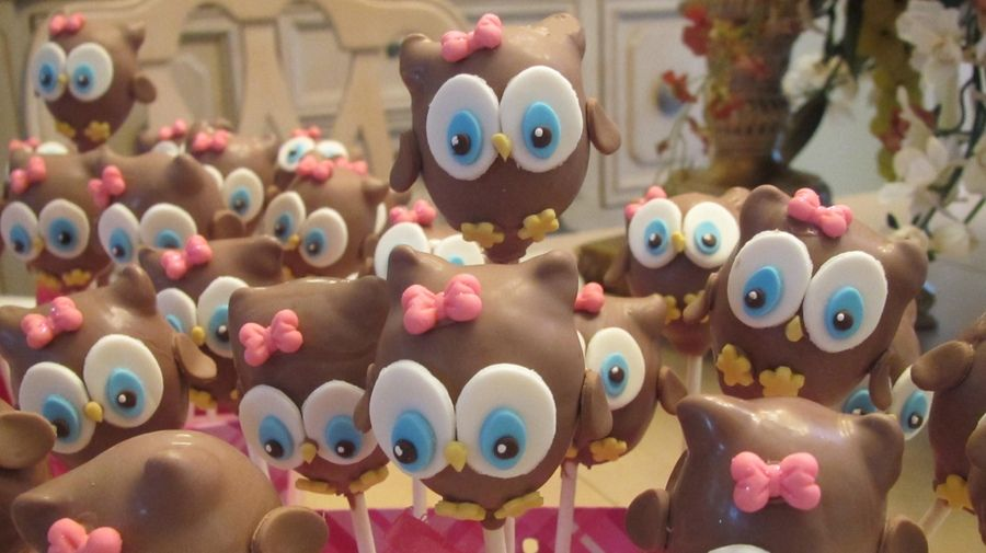 cake pops chouettes