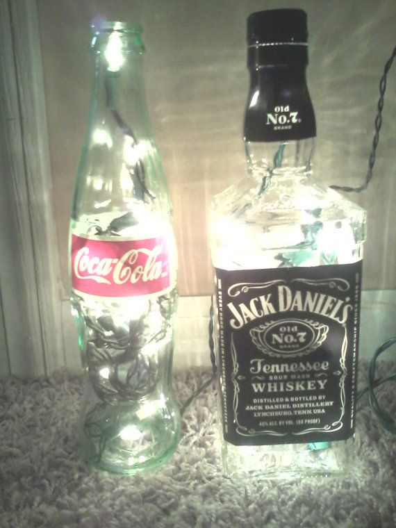 Lighted Jack and Coke Set Jack Daniels and Coca-Cola Lamp Great Gift ...