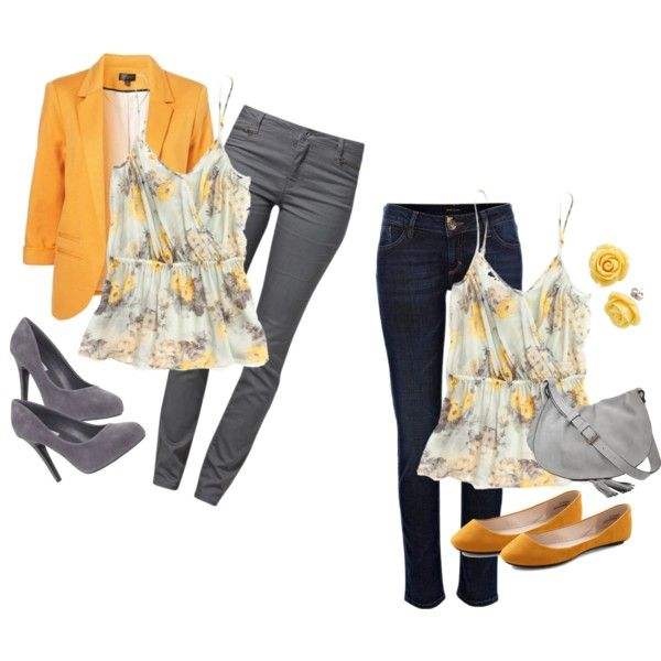 One Item, Two Ways: Yellow, created by karrina-renee-krueger on Polyvore