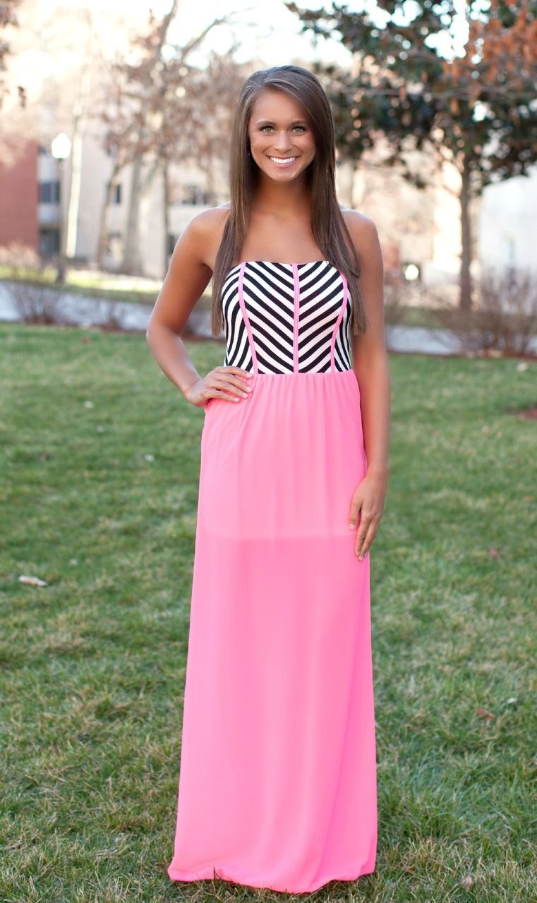 All I Want Neon Pink Maxi - The Pink Lily Boutique   dressy clothes ...