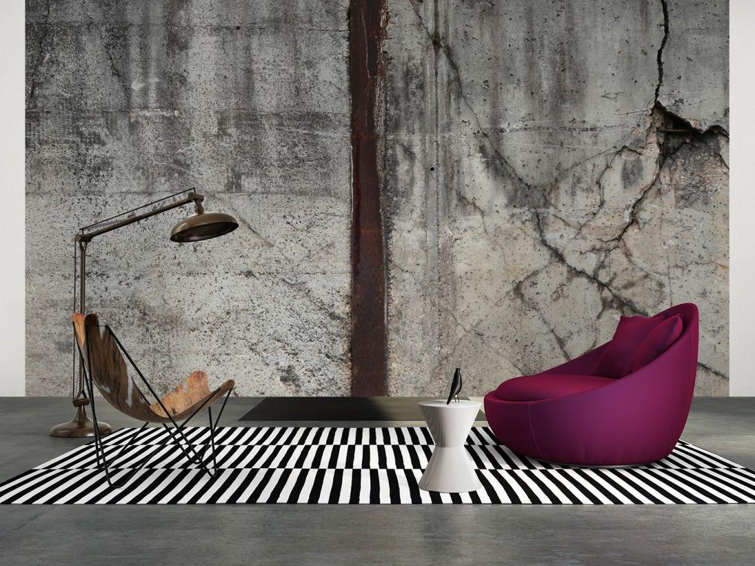 tapeten im wohnzimmer; architects paper fototapete «marode ... - Industrial Chic Wohnzimmer