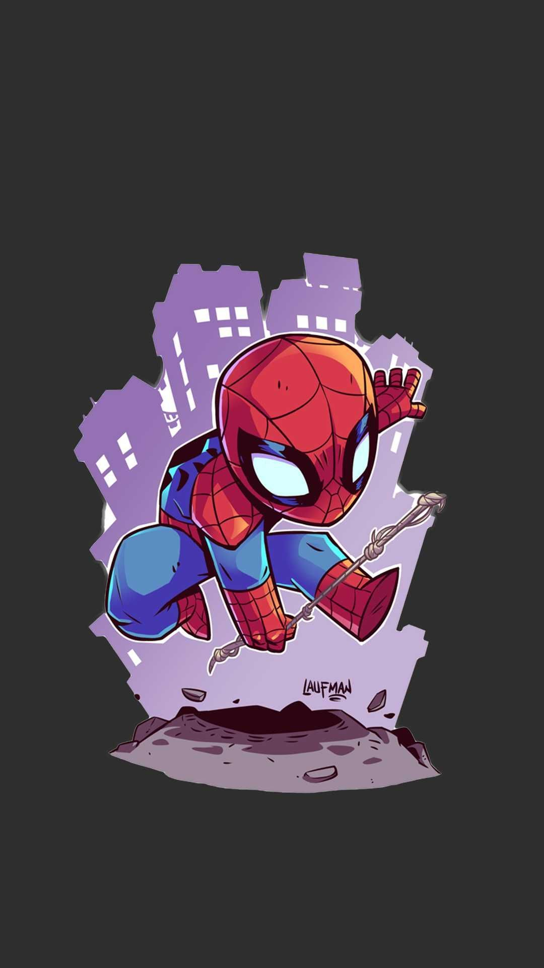 Spiderman Animated Art Iphone Wallpaper In 2020 Superhero